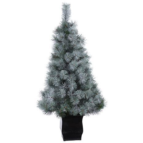 4' Snowy Mountain Pine Artificial Christmas Tree with 150 LED Light...