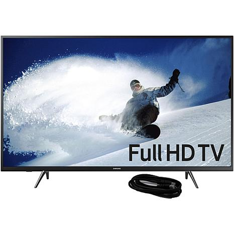 43 Inch LED 1080p Smart HDTV and 6 Foot HDMI Cable