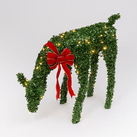 "44""L Electric Green PVC Feeding Doe Winter Yard Décor"