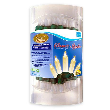50-LED Warm Glow White Traditional Mini Light Set
