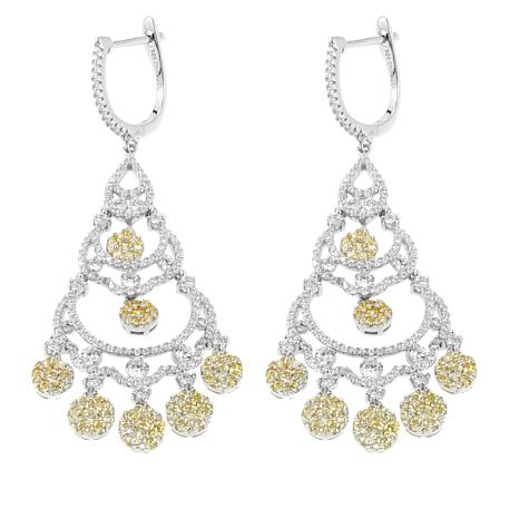 5.62ctw Absolute™ Sterling Silver Round Stone Chandelier Earrings ...