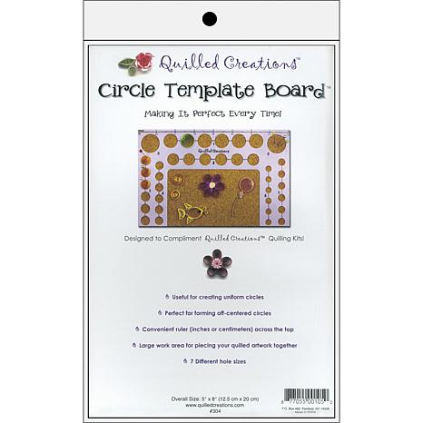 "Quilled Creations 5"" X 8"" Circle Template Quilling Board - 6551105"