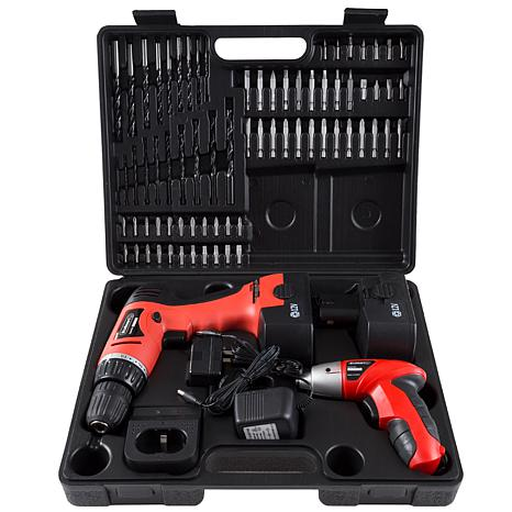 74-piece Combo Cordless Drill and Driver Set