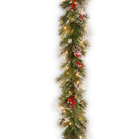 9' Feel Real® Wintry Berry Collection Garland