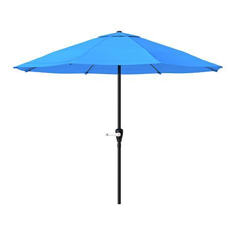 9 patio umbrella with easy crank brilliant blue - Patio Umbrella