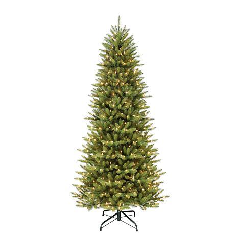9' Slim Franklin Fir Artificial Christmas Tree - 800 Clear Lights