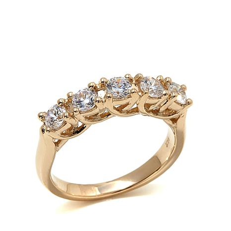 Absolute™ 0.75ctw Cubic Zirconia 5-Stone 14K  Ring