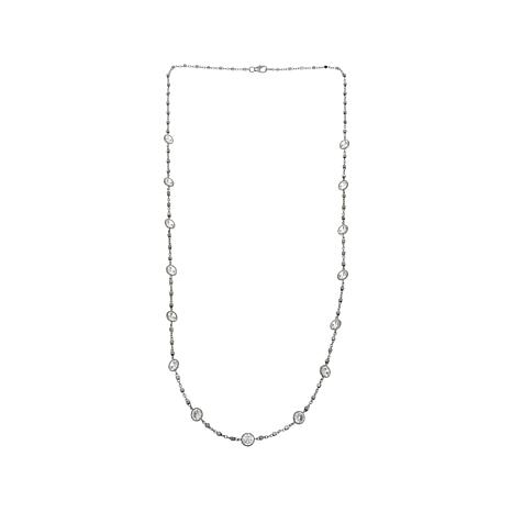 """Absolute™ 13.50ctw Round CZ 24"""" Station Necklace"""
