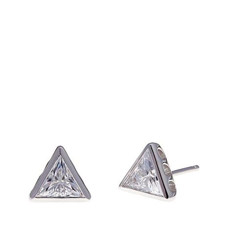 Absolute™ 1.50ctw Cubic Zirconia Triangular Earrings