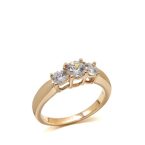 Absolute™ 1ctw Cubic Zirconia 14K Gold Ring