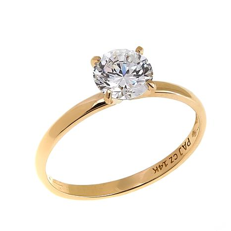 Absolute™ 1ctw CZ 14K Round Solitaire Ring