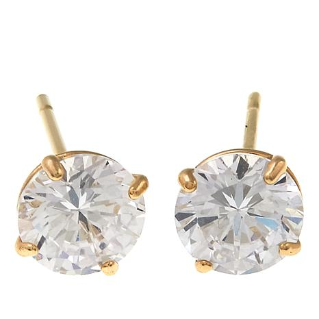 Absolute™ 1ctw CZ 14K Round Stud Earrings