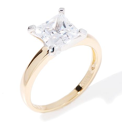 Absolute™ 1ctw Princess-Cut Solitaire Ring