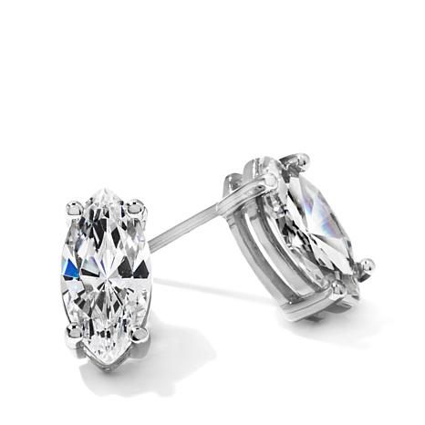 Absolute 2ctw Marquise Shaped Cz Stud Earrings