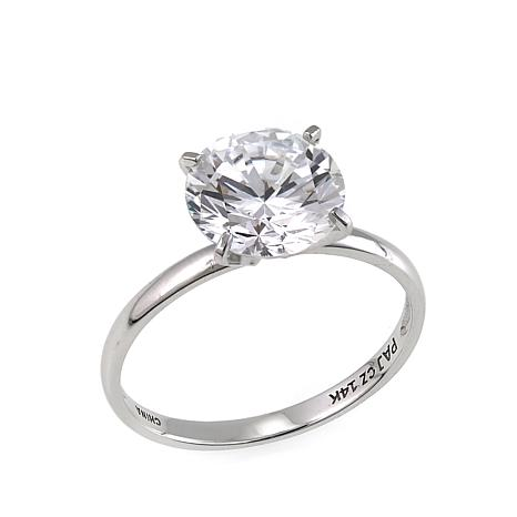 b57e2e6dd1f257 Absolute™ 3ct CZ 14K Round Solitaire Ring - 8655117 | HSN