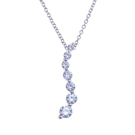 "Absolute™ .75ctw CZ  Journey Pendant with 20"" Chain"