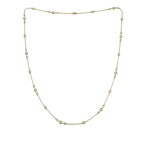 """Absolute™ 8.55ctw Round CZ Mixed Station 30"""" Necklace"""