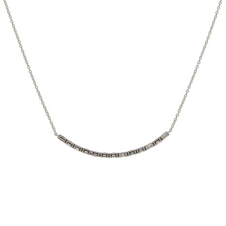 Absolute™ Cubic Zirconia Baguette Bar Necklace