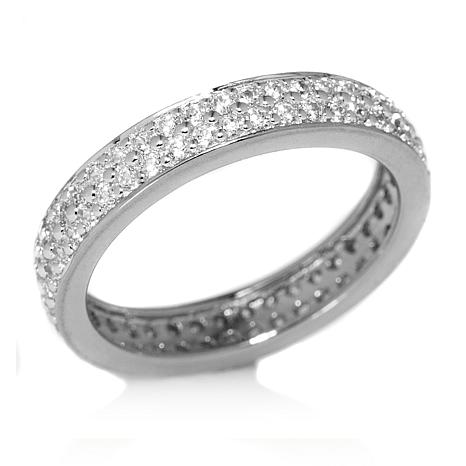 cubic silver sterling in finishes d eternity bands cttw zirconia cz band