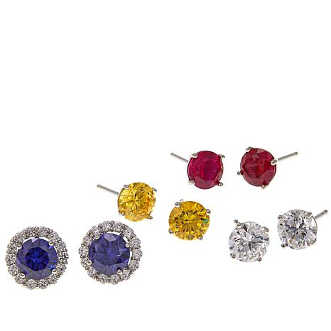 Absolute™ Multicolor Round Stud Earrings with Jackets