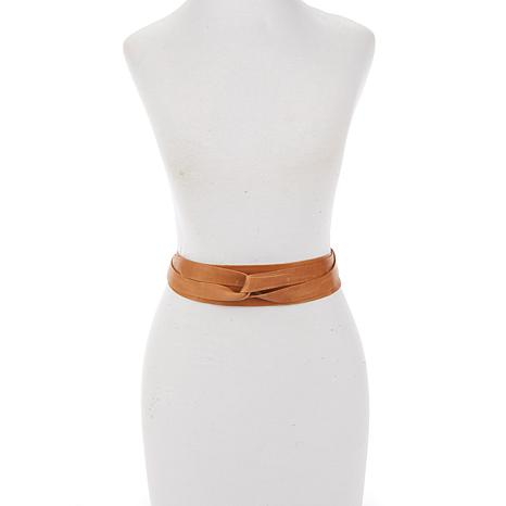 ADA Collection Argentinean Leather Midi Wrap Belt