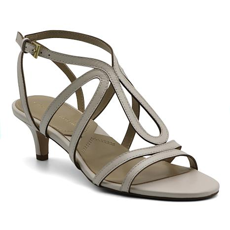 Adrienne Vittadini Safara Strappy Leather Sandals