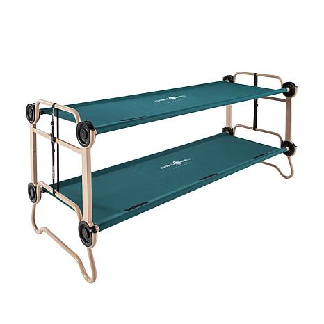 Adults' 2pc 3-in-1 Bunk-Style Cots w/Bags - Green