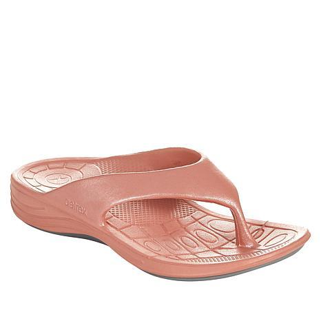 best sell run shoes volume large Aetrex® Lynco Shimmer Flips