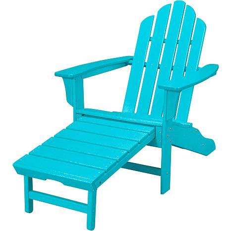 All Weather Adirondack Chair With Ottoman   Aruba