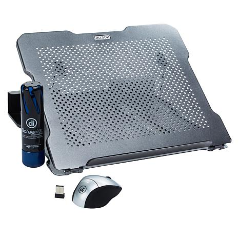 Allsop Laptop Starter Bundle with Laptop Stand, Mouse and Cleaner