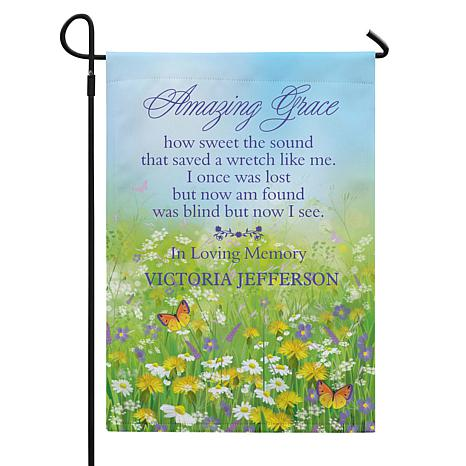 Amazing Grace Memorial Garden Flag With Stake