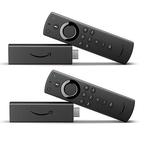 Amazon 2-pack Fire TV Sticks 4K with Alexa Voice Remote & Vouchers