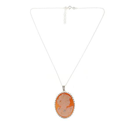 """AMEDEO """"Ricco"""" Lady with Crystal Necklace Pendant/Chain"""