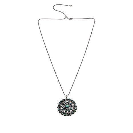 Amena K® Sterling Silver Abalone Pendant with Chain