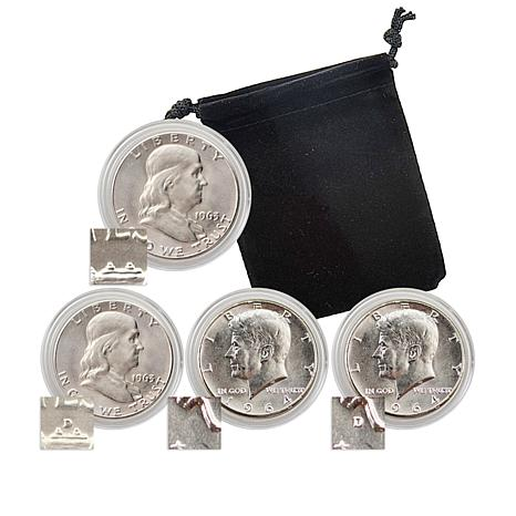 America's Last Silver Half-Dollar Set of 4 Coins