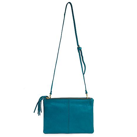 Amsterdam Heritage Alles Turquoise Blue Leather Crossbody