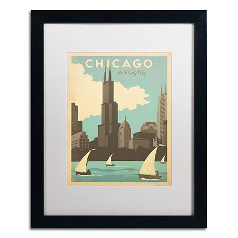 Anderson Design Group Chic Windy City Matted Framed Art