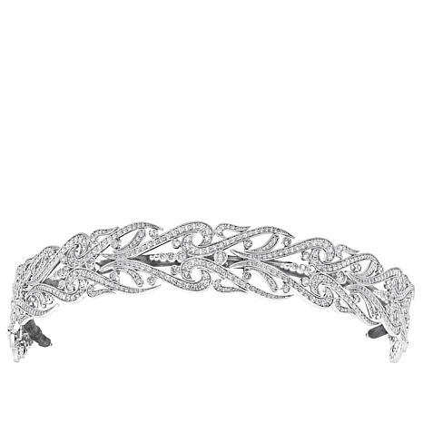 Andrew Prince 16.94ctw CZ Wide Scroll Bandeau