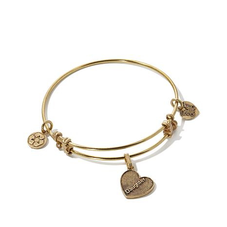 "Angelica ""Daughter"" Charm Bangle Bracelet"
