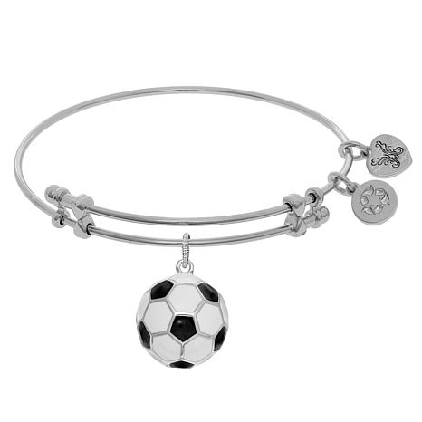Angelica Soccer Dangle Wire Expansion Bangle Bracelet