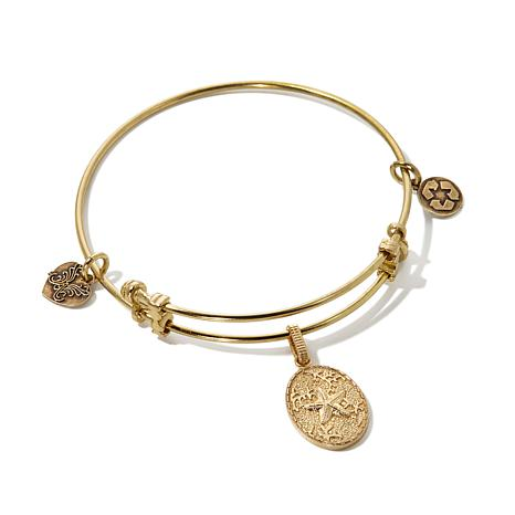 "Angelica ""Starfish"" Charm Slide-Clasp Bangle Bracelet"