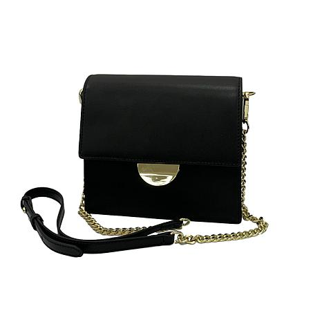 Anna Cai Genuine Leather Chain Strap Crossbody