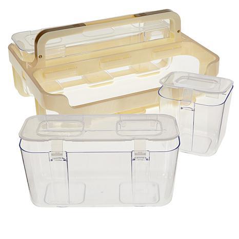 Anna Griffin® 3-Tier Storage Caddies with Ribbon Dispenser and Tray ...