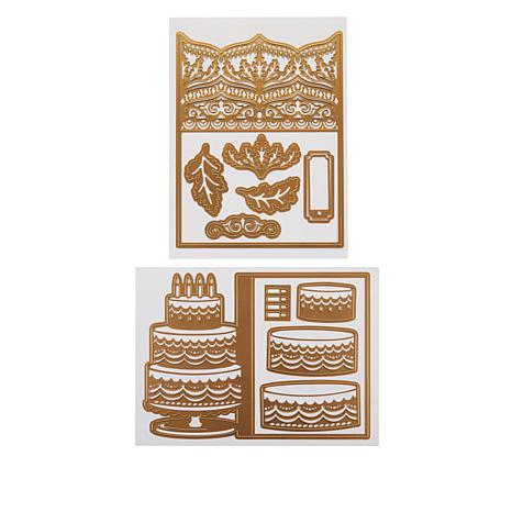 Anna Griffin® Cake & Damask Jacket Card Dies