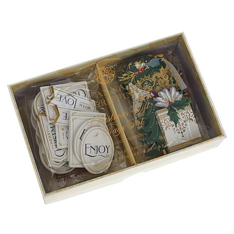 Anna Griffin® Christmas Gift Tag Set and Embellishments