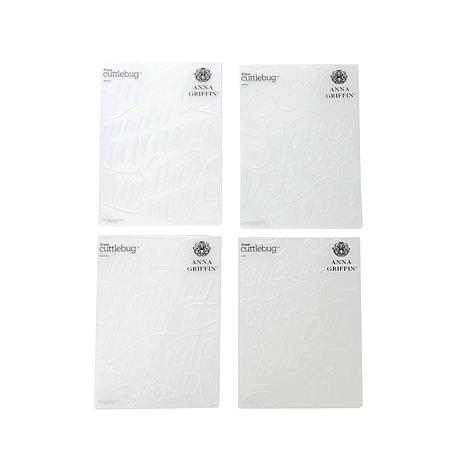Anna Griffin® Cuttlebug™ Embossed Words 4pc Folder Set