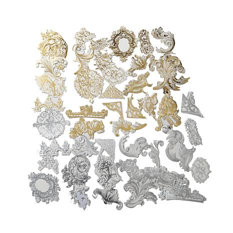 Anna Griffin® Gold and Silver Flourish Stickers