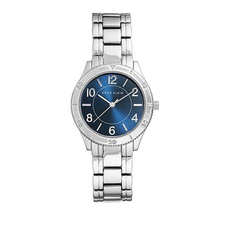 Anne Klein Blue Dial Textured Detail Bracelet Watch