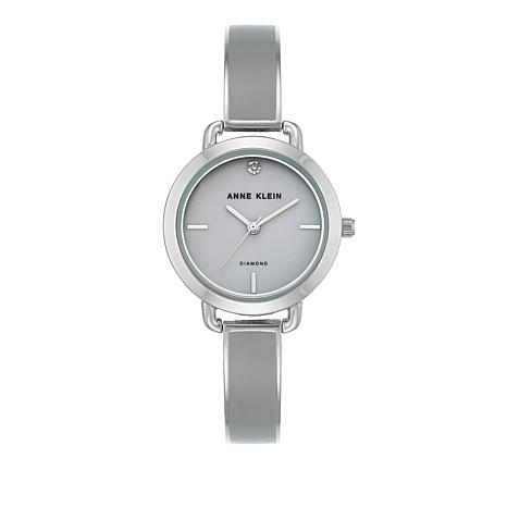 Anne Klein Gray Dial Silvertone Bracelet Watch
