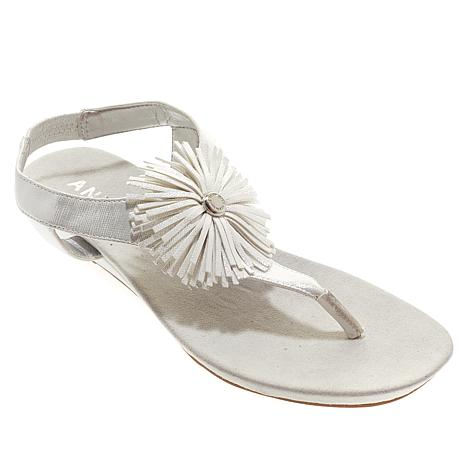 Anne Klein Isotta Demi-Wedge Thong Sandal